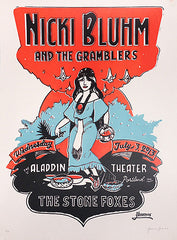 Nicki Bluhm & The Gramblers Limited Edition Portland, OR July 3rd, 2013 Poster