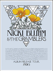 Nicki Bluhm & The Gramblers Album Release Tour August - October 2013 Poster