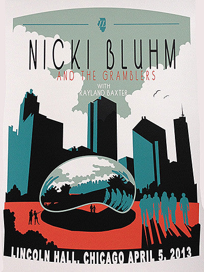 Nicki Bluhm & The Gramblers Limited Edition Chicago, IL April 5th, 2013 Poster