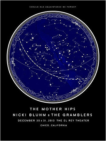 Nicki Bluhm & The Gramblers / The Mother Hips Limited Edition Chico, CA December 31st, 2013 Poster