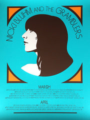 Nicki Bluhm & The Gramblers Limited Edition Spring Tour 2013 Poster