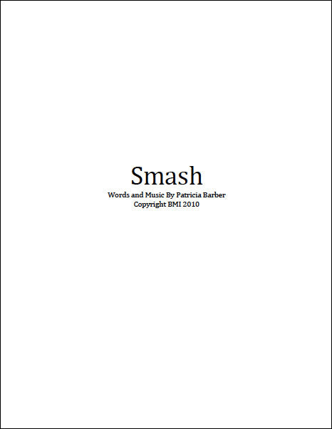 "Patricia Barber ""Smash"" Sheet Music DIGITAL"