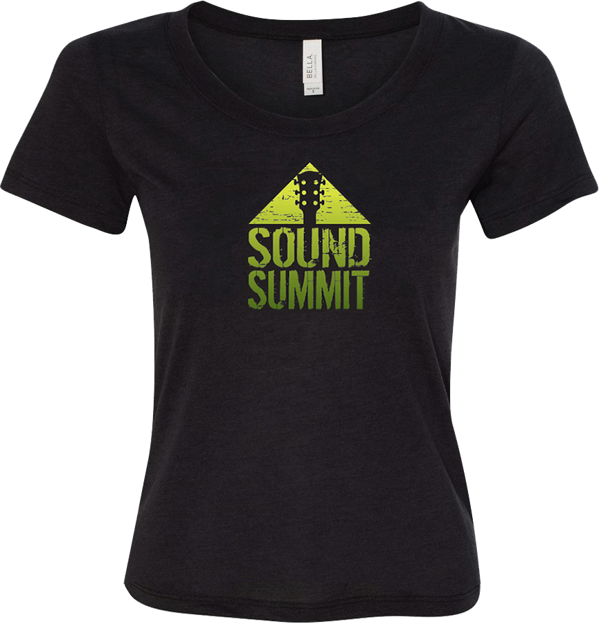Sound Summit 2016 Women's Heather Black Logo T-Shirt