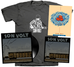 SON VOLT - AUTOGRAPHED Notes of Blue POSTER + LIMITED VINYL + CD + MEN'S/WOMEN'S T-SHIRT + DOWNLOAD w/ TWO BONUS TRACKS (PRESALE)