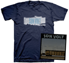 SON VOLT - AUTOGRAPHED Notes of Blue LIMITED EDITION CD + MEN'S/WOMEN'S T-SHIRT + DOWNLOAD w/ TWO BONUS TRACKS