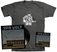 SON VOLT - Autographed Notes of Blue LIMITED VINYL + CD + MEN'S/WOMEN'S T-SHIRT + DOWNLOAD w/ TWO BONUS TRACKS