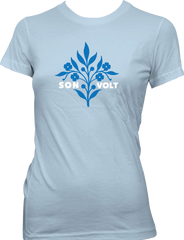 SON VOLT - Light Blue Flowers GIRL'S T-SHIRT