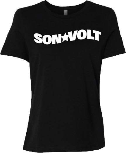SON VOLT - Women's Wavy Black T-shirt