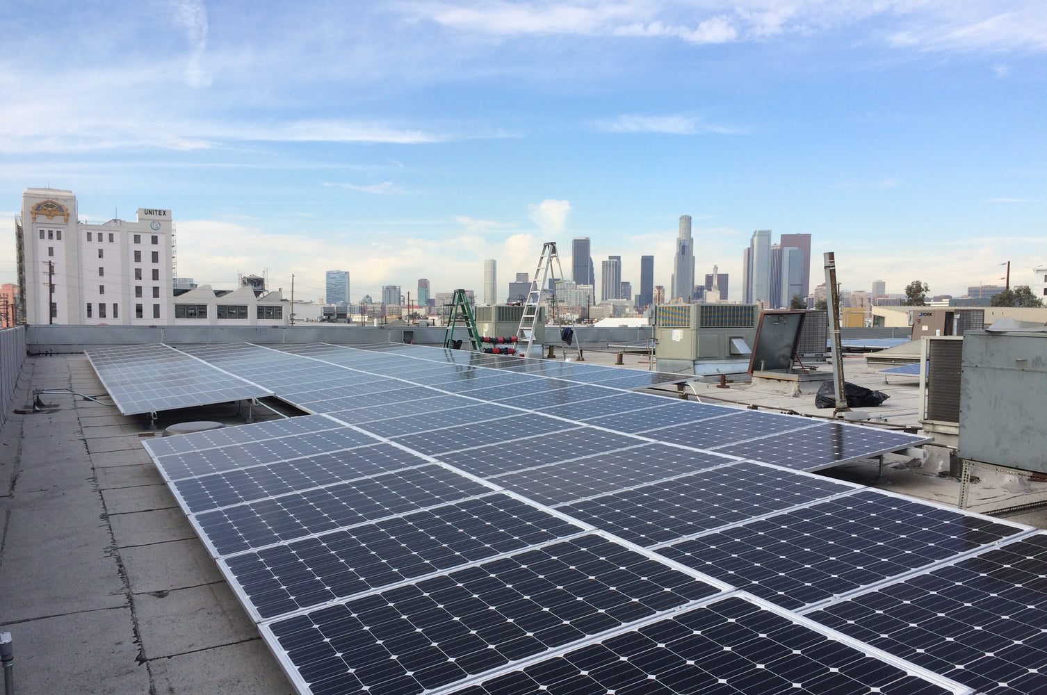 160kW Solar Installation in Downtown Los Angeles