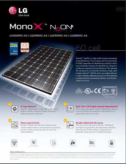 LG MonoX NeON Data Sheet