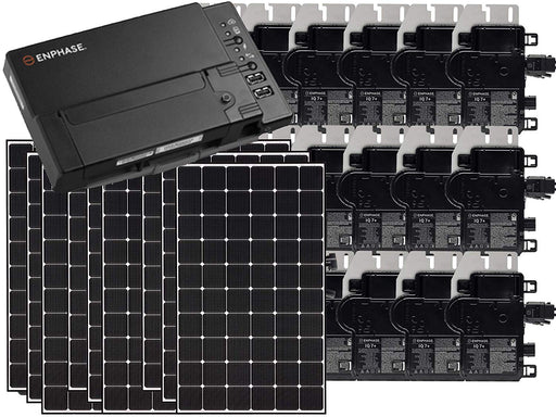 Residential Grid-Tied LG NeON 2 350W Solar Panel System Kit | Enphase IQ Envoy & IronRidge Mounting System