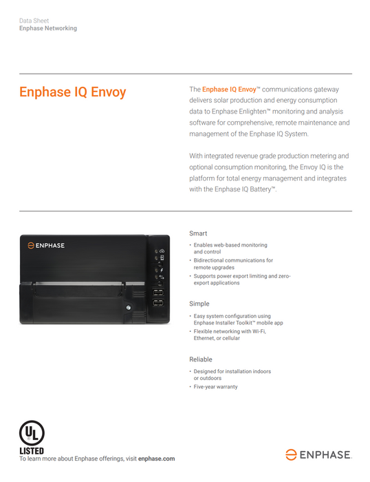 Enphase IQ Envoy Gateway Module Level Monitoring ENV-IQ-AM1-240 M