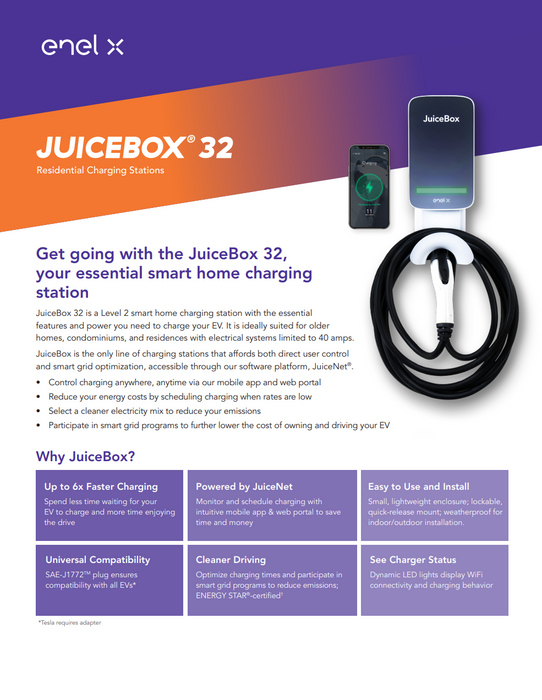 JuiceBox 32 Residential | Level 2 EV Charger
