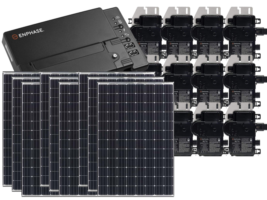 Residential Grid-Tied Panasonic 330W Solar Panel System Kit | Enphase IQ Envoy & IronRidge Mounting System