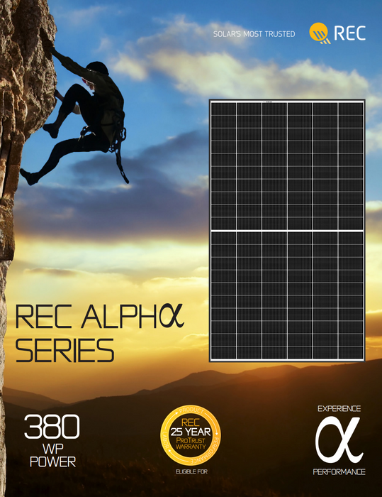 REC Alpha X Series 365W Panel REC365AA BOW Data Sheet Page 1 Treepublic Solar Installers