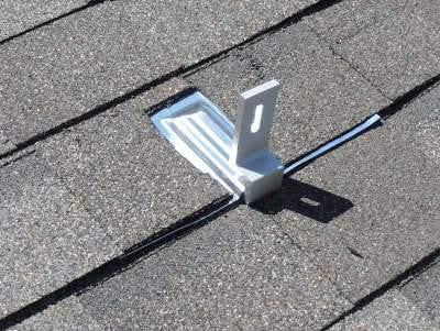 "SolarRoofHook Flashed U-Foot Mounting Kit - Aluminum Flashing & 10mm U-foot & 5/16 x 3"" Stainless Screws (20 pcs.)"
