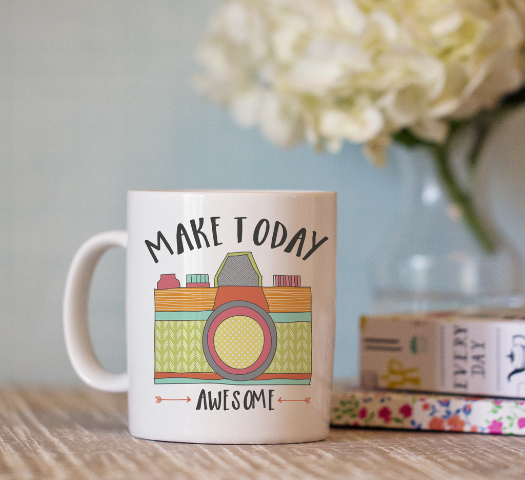 Make Today Awesome Camera Mug