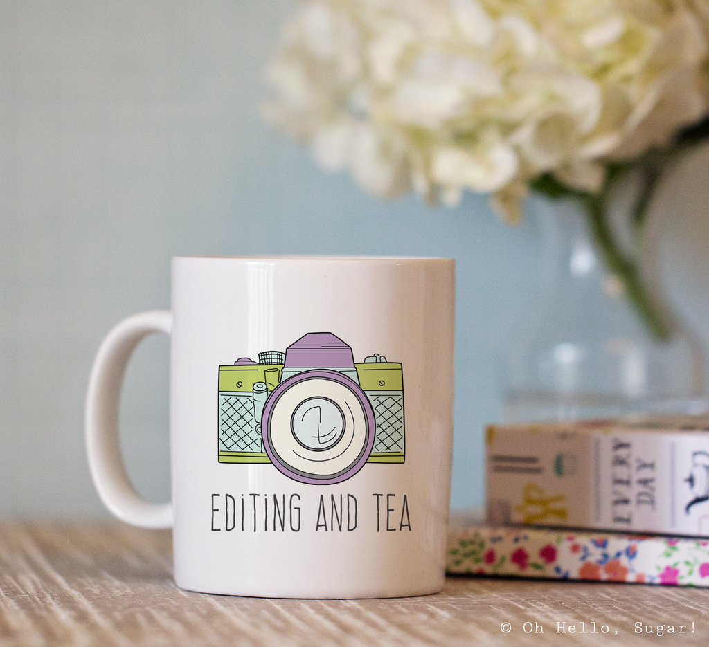 Editing and Tea Mug