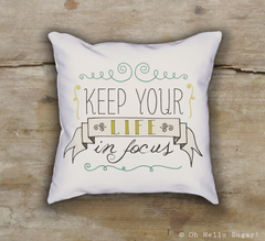 Life in Focus Pillow
