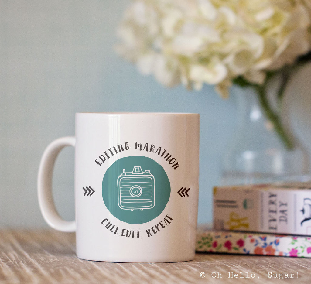 Editing Marathon Photography Mug