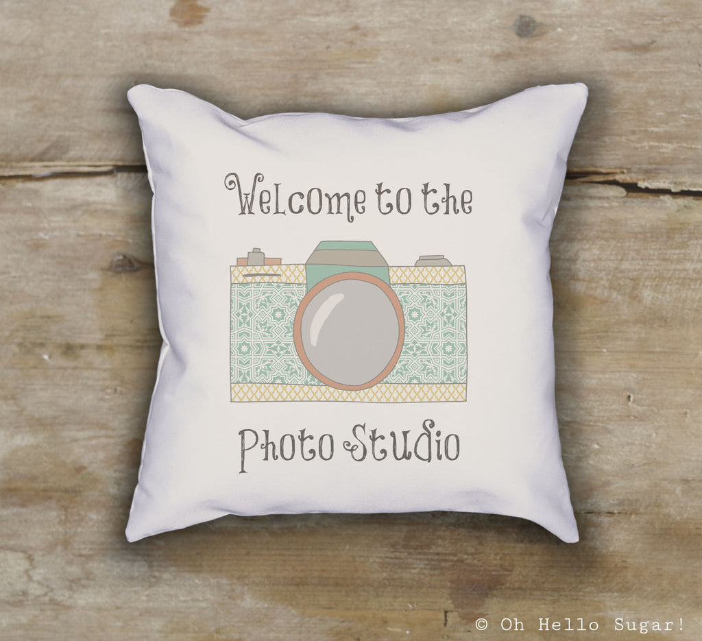 Photo Studio Welcome Pillow