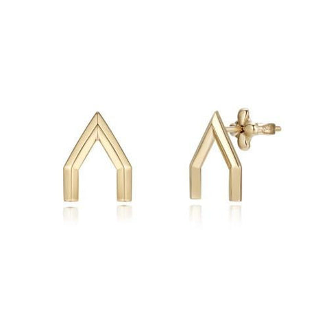 Milano vermeil earrings small