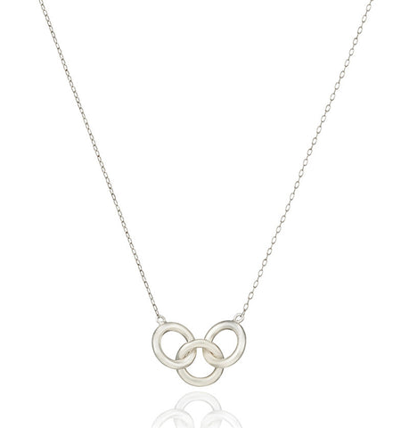 Annulet linked hoop necklace