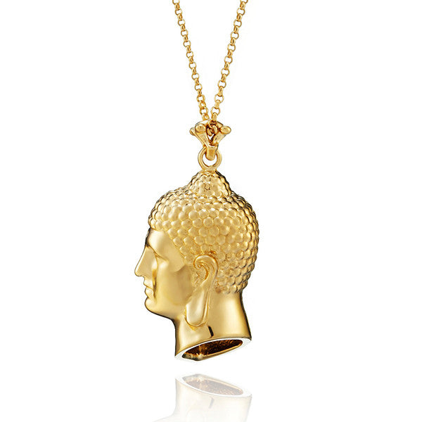 Apollo Buddha vermeil necklace