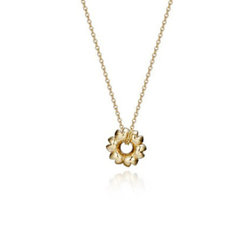 Double Cone 18k yellow gold necklace small