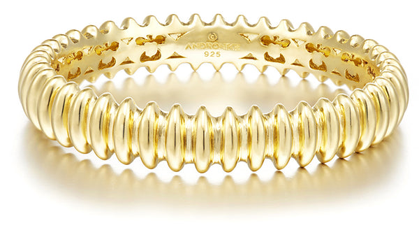 Fine hall vermeil bangle