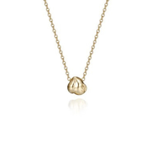 Heavenly Peach 18k yellow gold necklace small