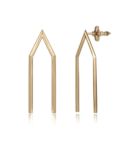 Milano vermeil earrings large