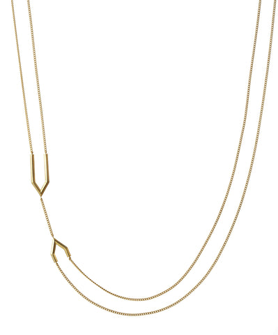 Milano double chain vermeil necklace
