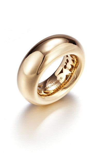 Torus 18k yellow gold ring