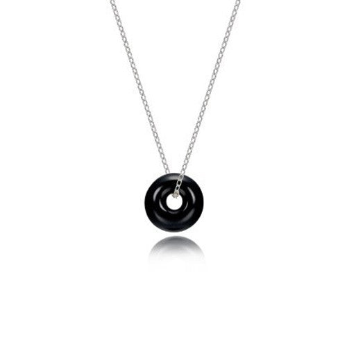 Torus onyx necklace, small