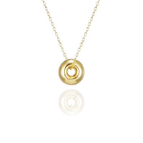 Torus vermeil necklace medium