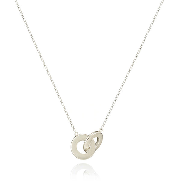 Bayonne linked hoop necklace S