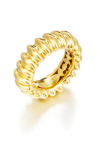 Fine hall vermeil ring