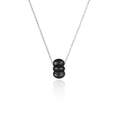 Great Hall onyx necklace, small
