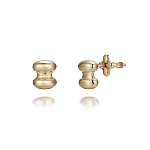 Great hall II 18k yellow gold earrings small