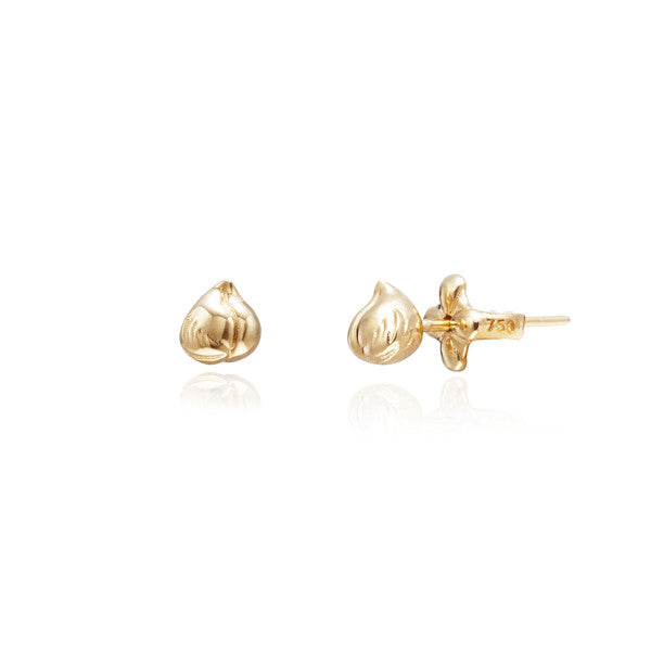 Heavenly Peach 18k yellow gold earrings small