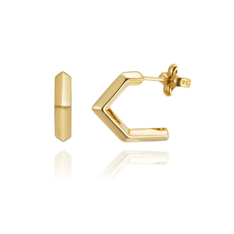 Milano open hoop vermeil earrings