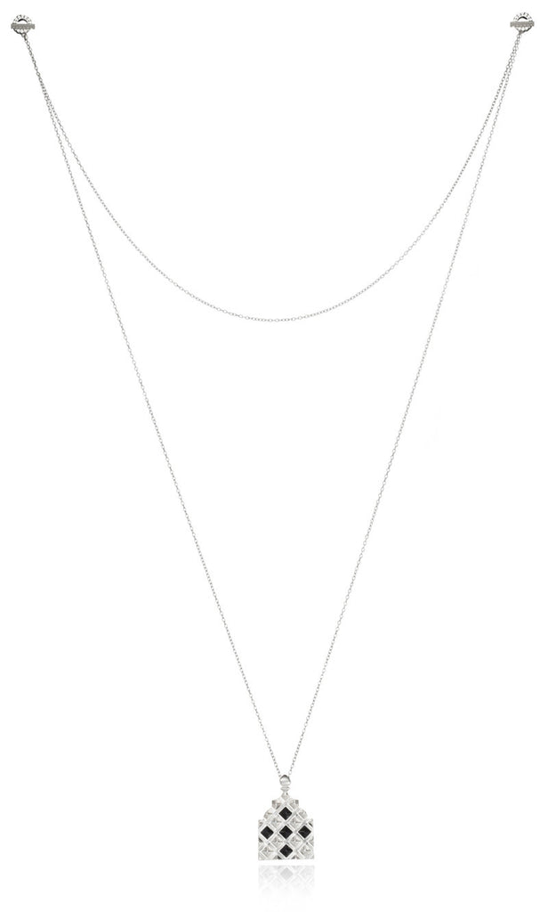 Norwich IV onyx toggle necklace