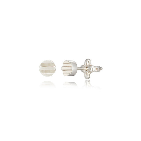 Patara round stud earrings