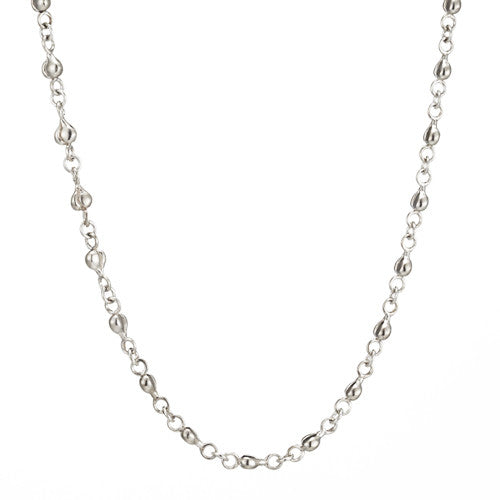 Heavenly peach long chain necklace