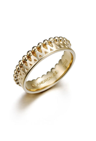 Swabia 18k yellow gold ring