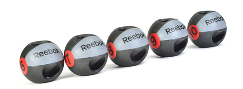 Reebok Double grip Medicine ball 8 kg Black/grey