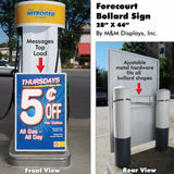 Bollard Sign - C Store Signs Direct  - 2