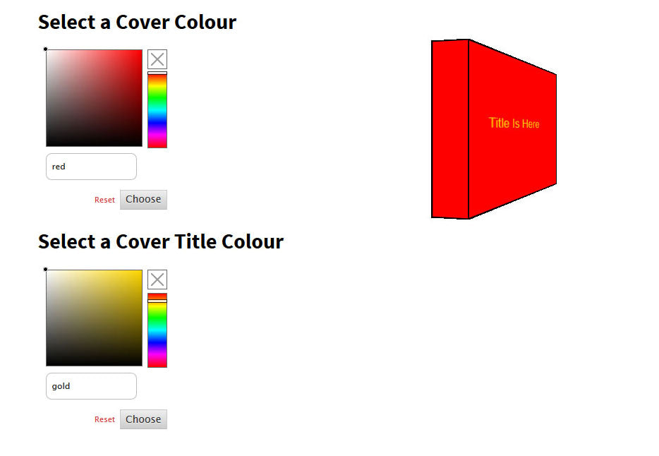 light card colour selection