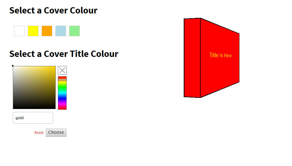 plastic cover colour selections